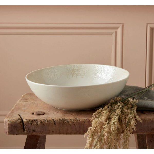 Denby Monsoon Lucille Gold Medium Serve Bowl 24cm