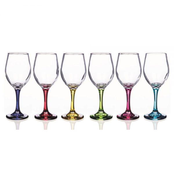 Rainbow Vienna Set of 6 Wine Glasses