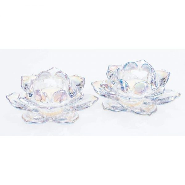 Unicorn Lustre Lotus T Light Pair