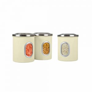 Denby Set Of 3 Storage Canisters Cream