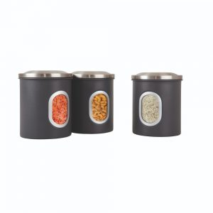 Denby Set Of 3 Storage Canisters Grey