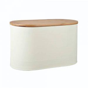 Denby Bread Bin With Bamboo Lid Cream