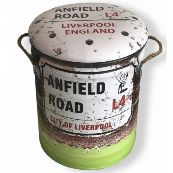 Anfield Road Metal Stool Large 36x44cm