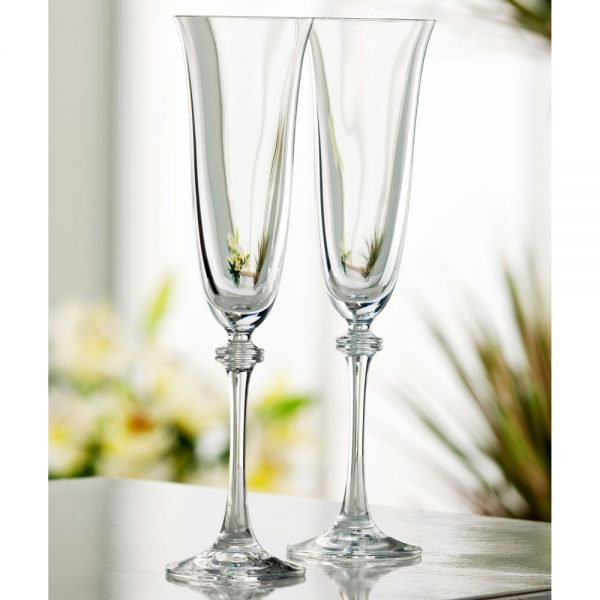Galway Crystal Liberty Flute Pair