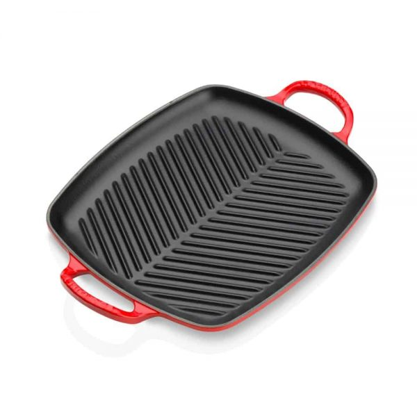 Le Creuset Shllow Rectangular Grill 30cm Cerise