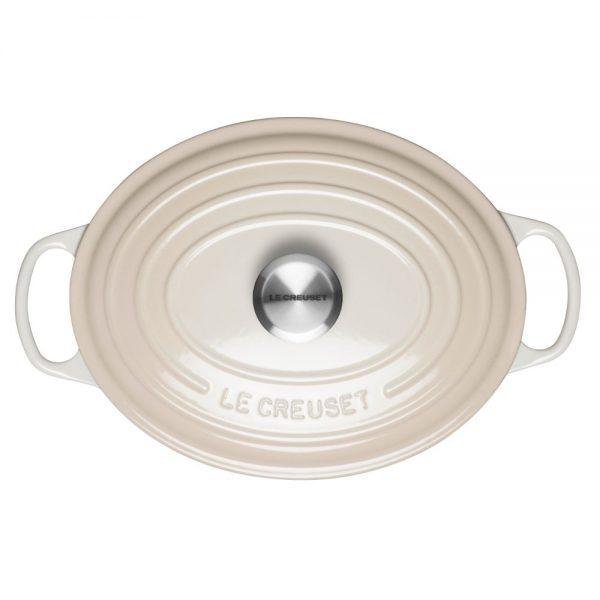 Le Creuset Signature Cast Iron Oval Casserole 29cm Meringue