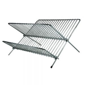 Chrome Folding Dish Drainer 20x36x36cm