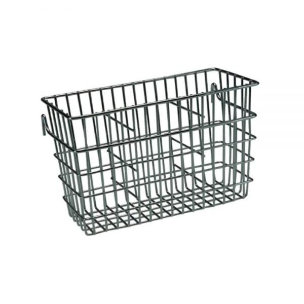 Chrome Cutlery Drainer Caddy 12x19x90cm