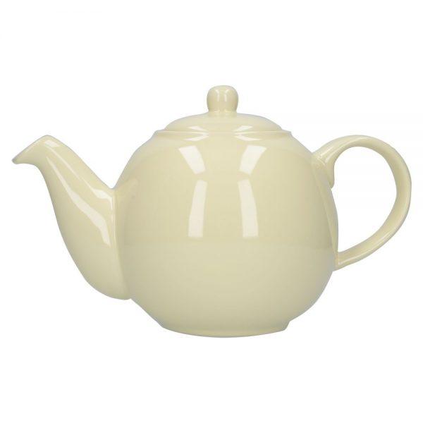 London Pottery Globe 6 Cup Teapot Ivory