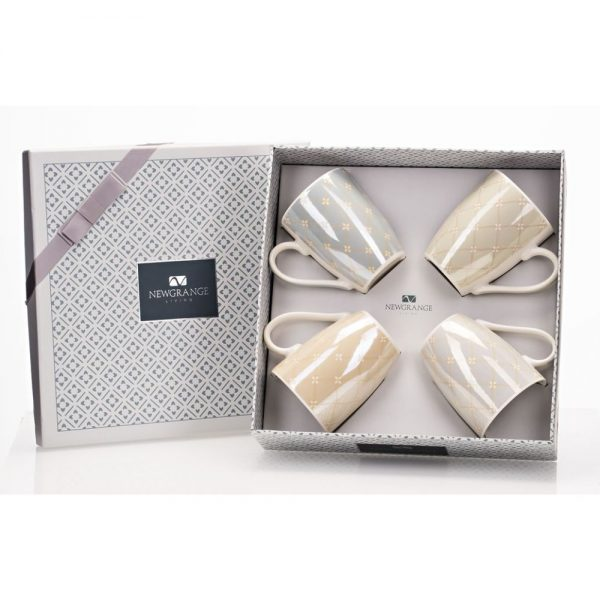 Newgrange Madison Bone China Mug Set 4 Pastel