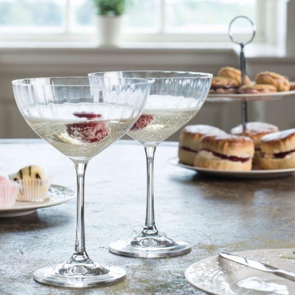 Erne Saucer Champagne Set of Four