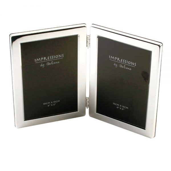 Silver Plated Double Photo Frame 4x6inch