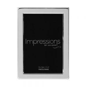 Silver Plated Photo Frame Flat Edge - 4x6