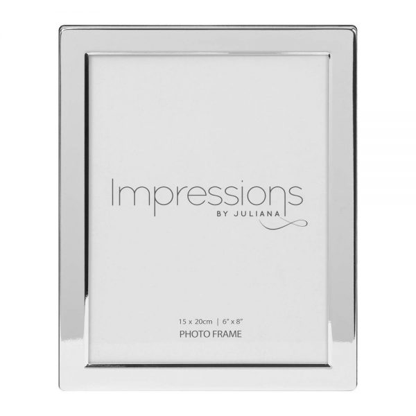 Silver Plated Photo Frame Flat Edge 6x8