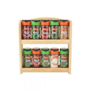 Spice Rack with 10 Filled Jars
