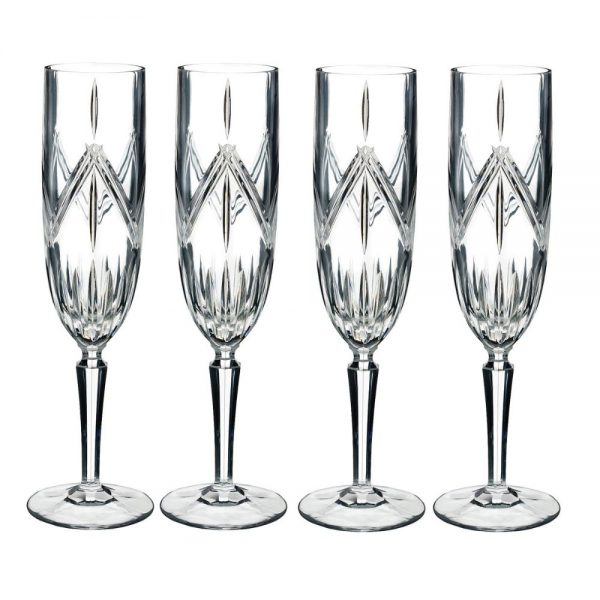 Marquis by Waterford Lacey Flute Set of 4