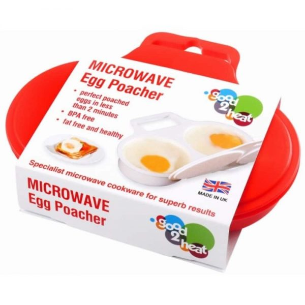 Microwave 2 Egg Poacher Dishwasher Safe BPA Free