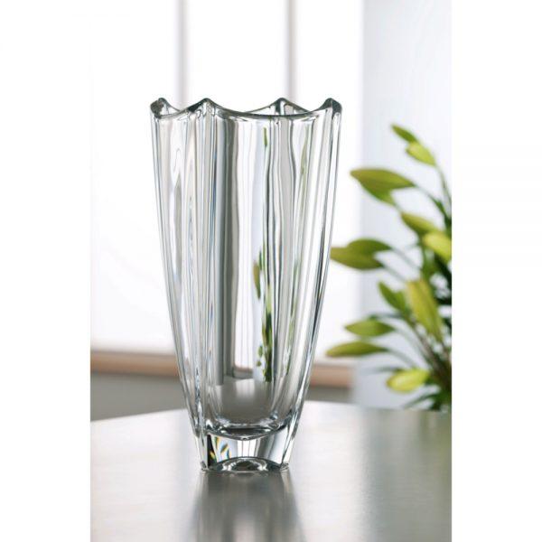 "Galway Crystal Dune 12"""" Square Vase"