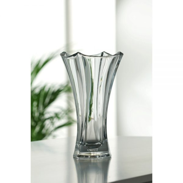 Galway Crystal Dune Waisted Vase Height 31cm