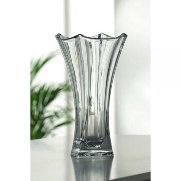 Galway Crystal Dune Waisted Vase Height 36cm