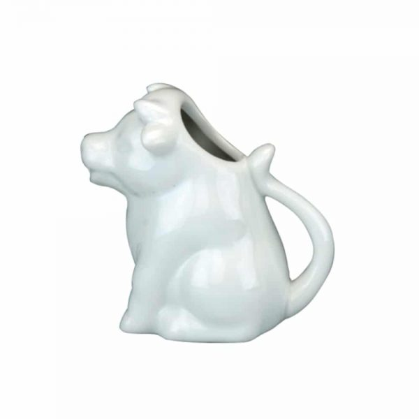White Porcelain Cow Cream Jug 9x5x9cm