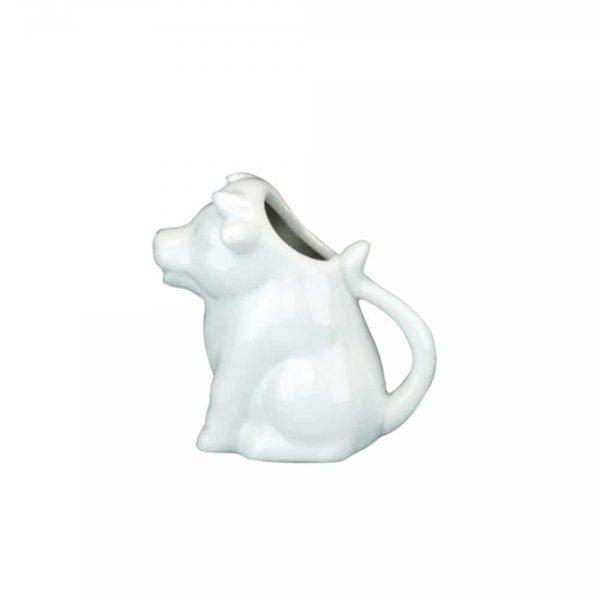 White Porcelain Cow Cream Jug 11x7x12cm