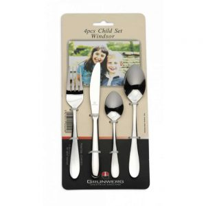 Grunwerg Windsor 4 Piece Child Cutlery Set