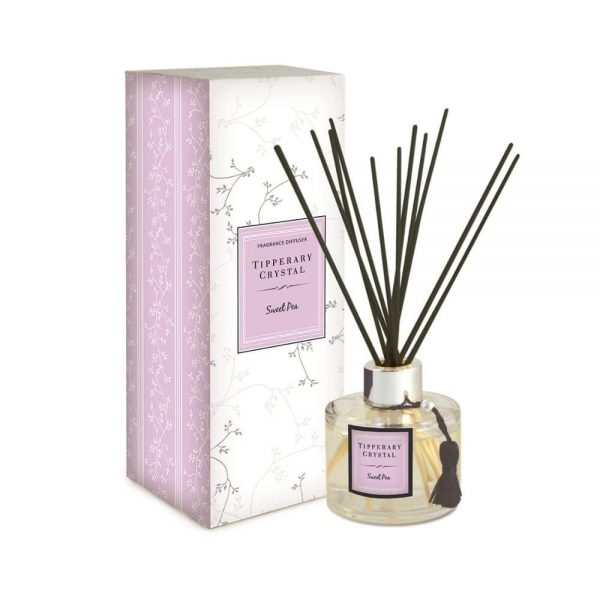 Tipperary Crystal Sweet Pea Diffuser Set