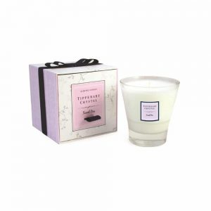 Tipperary Crystal Sweet Pea Tumbler Candle