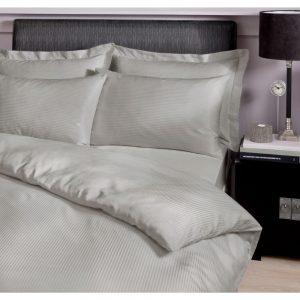 Satin Stripe Pillowcase Housewife Grey