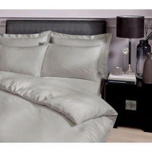 Satin Stripe Duvet King Size Grey