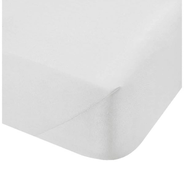500 Thread Count Double Fitted White Sheet