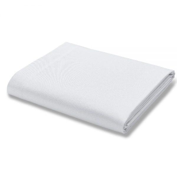 500 Thread Count Flat White Sheet