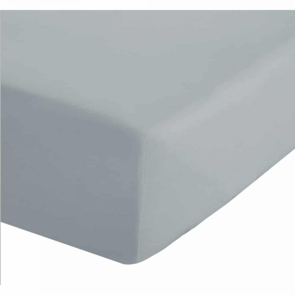 500 Thread Count Cotton Fitted Grey Sheet