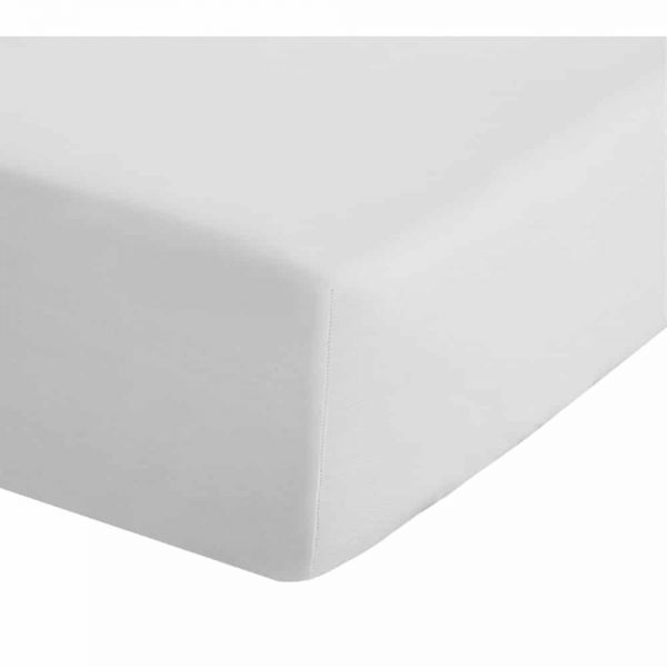 500 Thread Count Cotton Fitted White Sheet