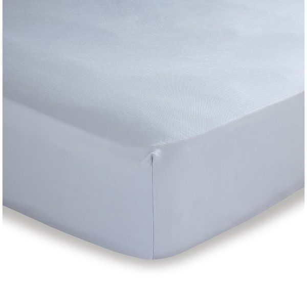 500TC Cotton Rich Grey Super King Fitted Sheet