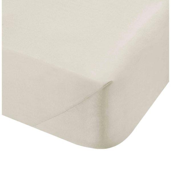 500TC Cotton Rich Superking Flat Sheet Cream