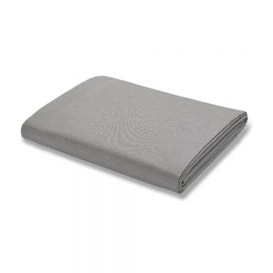500TC Cotton Rich Grey Super King Flat Sheet