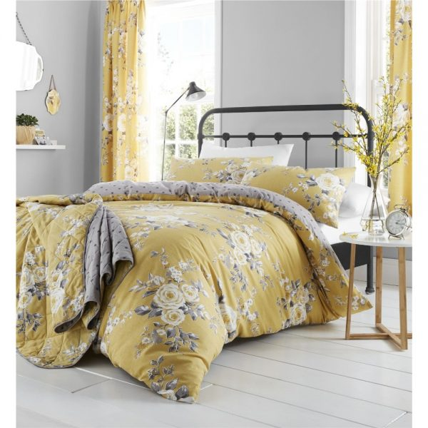 Canterbury Ochre Reversable King Duvet Set