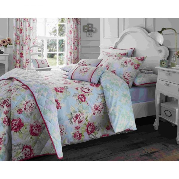 King Bouquet Pink Duvet Set