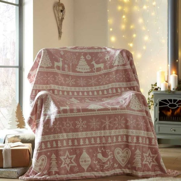 Scandi Blush Throw 130x170cm