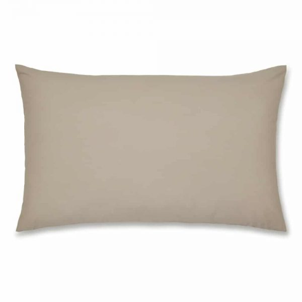 Percale NonIron Housewife Pillow Case Pair Natural