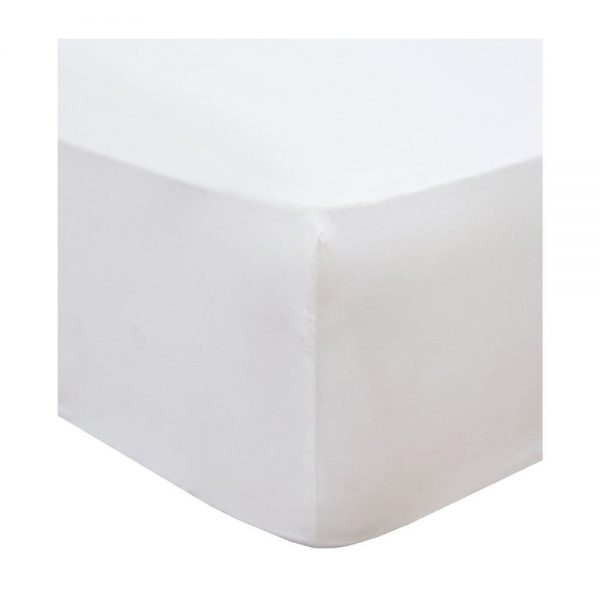 Terrance Conran Double Fitted White Sheet