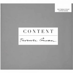 Terence Conran Grey Cotton Model Pillowcase
