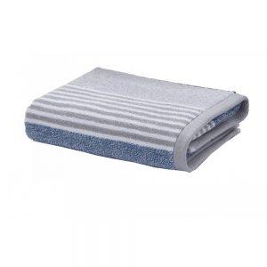 Bath Sheet Textured Stripe Blue