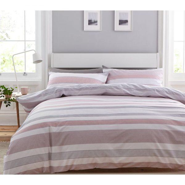 Pink Stripe Newquay Duvet Set