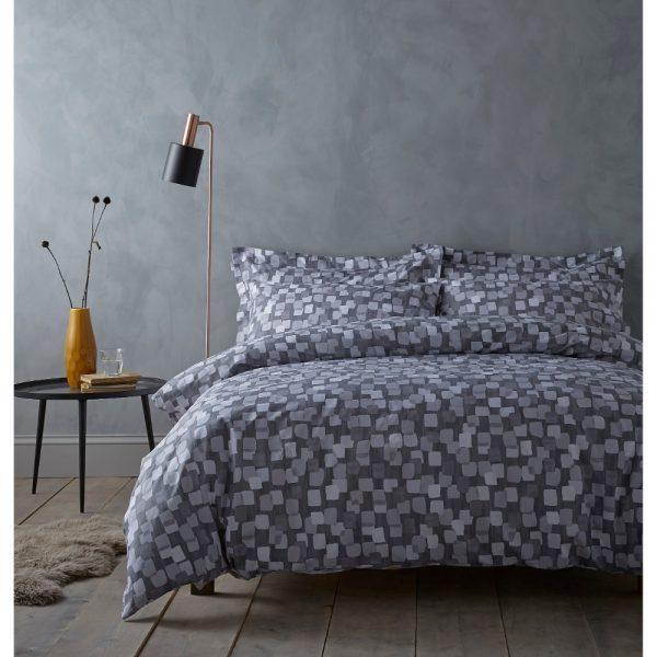 Brushstrokes Grey King Duvet Set