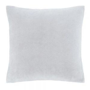 Velvet Silver Cushion Filled