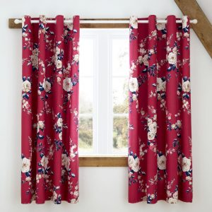 Canterbury Plum Curtains 66 x 72