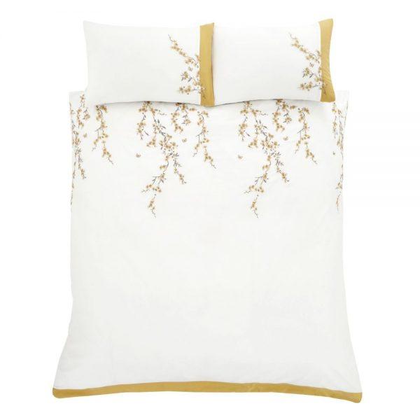 White Blossom King Duvet Set